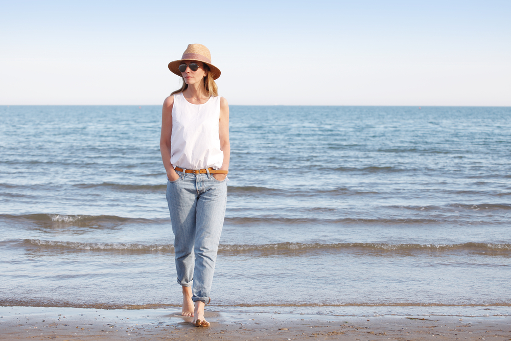 the biostation - Why You Should be Worried About Estrogen Depletion: Woman Walking On Beach