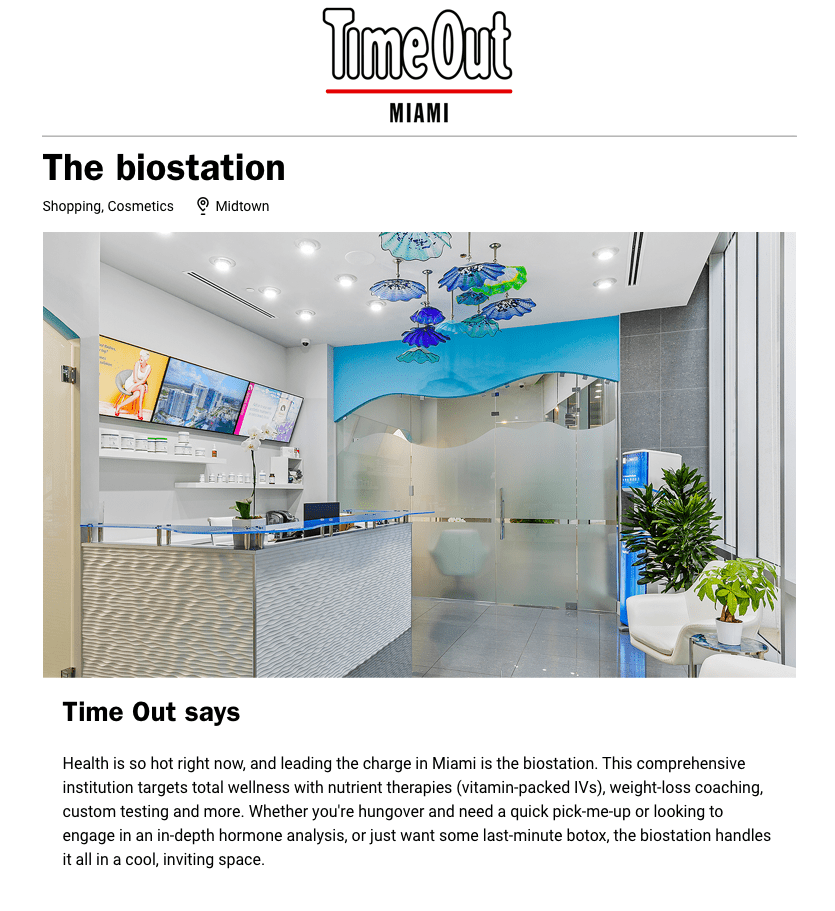 Featured by Time Out | the biostation