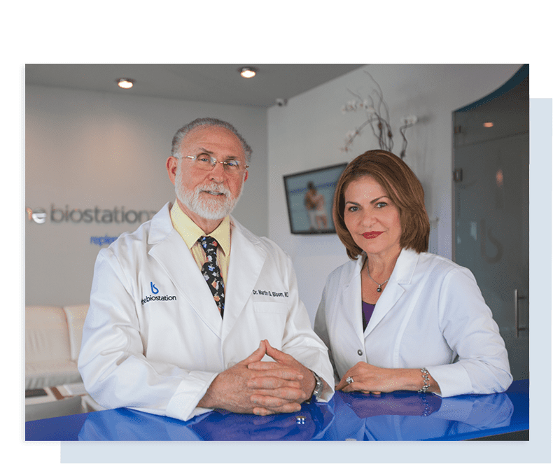 Dr. Bloom and Dr. Lacayo - the biostation team